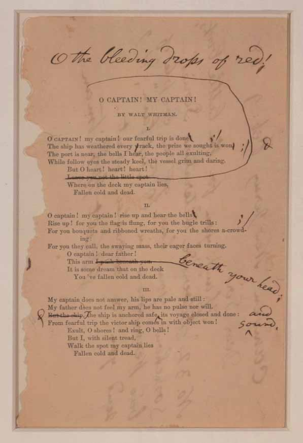 lesson plan beautiful dreamers walt whitman show the class this document from the library of congress in which whitman