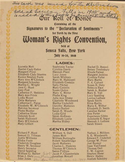 The Seneca Falls Convention (Reason): American Treasures of the ...