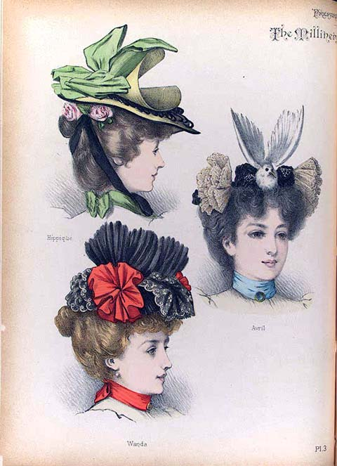 Womens Hats 19th Century