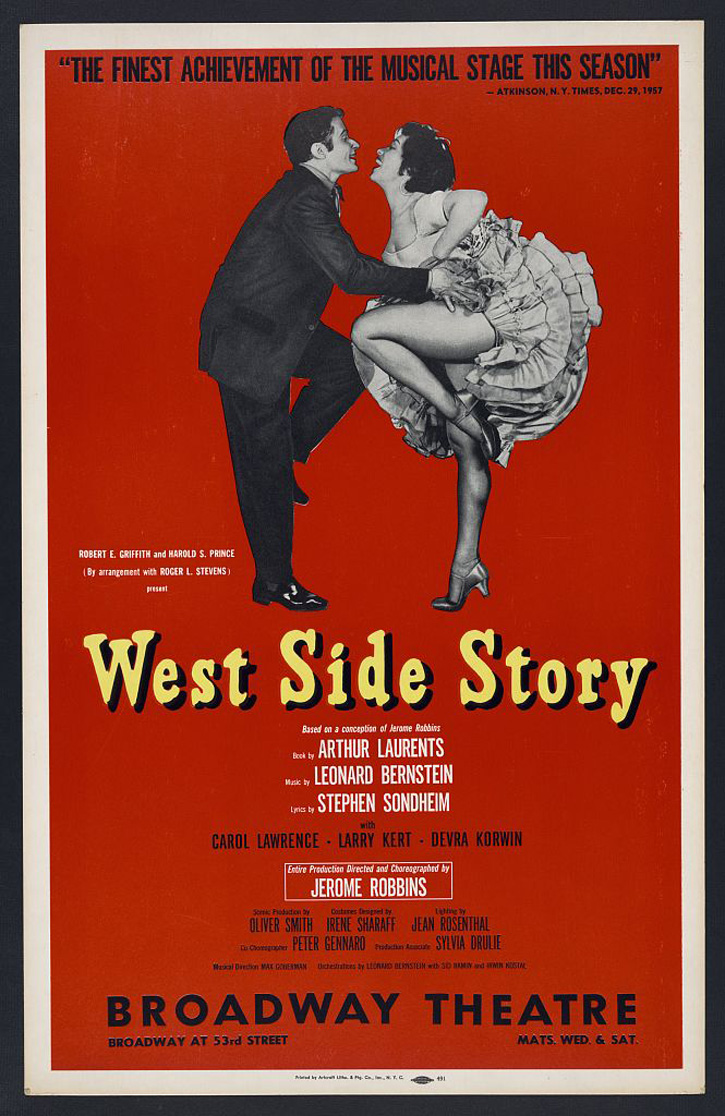 birth of a musical west side story birth of a classic poster from original production of west side story new york artcraft 1958 artcraft poster collection prints and photographs division