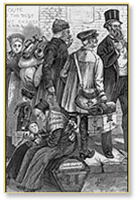 Woodcut of Mennonite Family, circa 1874