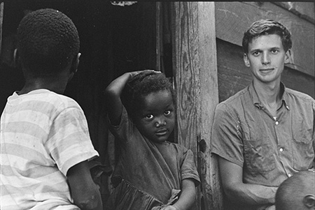 Union Seminary Volunteers with children, Southwest Georgia Project, 1967