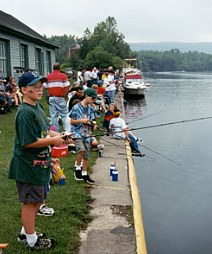 Fishing derby at the Little Falls Canal Celebration, 1999