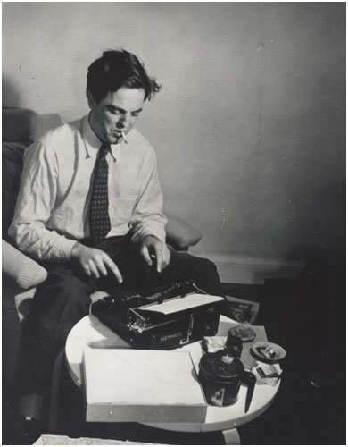 Alan Lomax at the typewriter, 1942 - Library of Congress photo