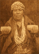 A female shaman of the Athapaskan Hupa of northwestern California, 1923
