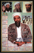 "a Bengali poster calendar, issued shortly after the attacks, reads, ""If each Muslim resists America, then victory is certain for them. Osama Bin Laden"""