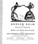 a program cover from a San Francisco appearance by the Bolm troupe