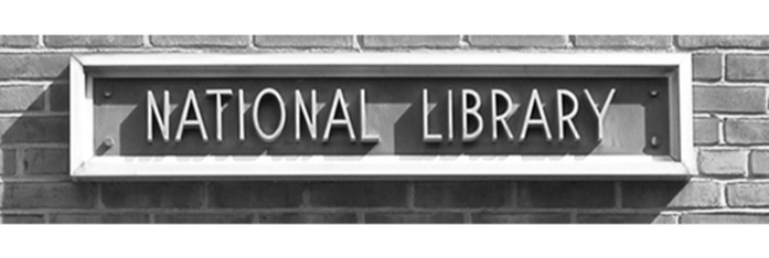 relief sign for National Library outside NLS headquarters in DC