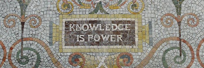 library of congress jefferson building mosaic of the maxium stating