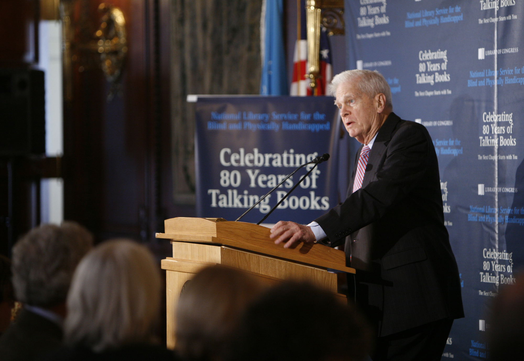 Dr. James Billington speaks at the NLS 80th anniversary celebration in 2011.