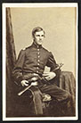 Major Oliver Wendell Holmes, Jr., of Co. A and Co. G, 20th Massachusetts Infantry Regiment in uniform with sword.