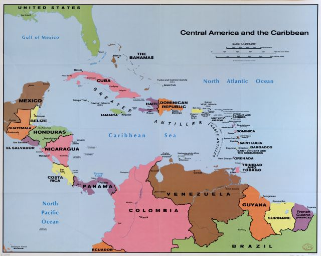 Bera issue 21 latin american business and economics resources map of central america and the caribbean gumiabroncs Images