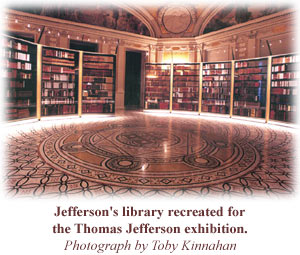 Image of Thomas Jefferson's library