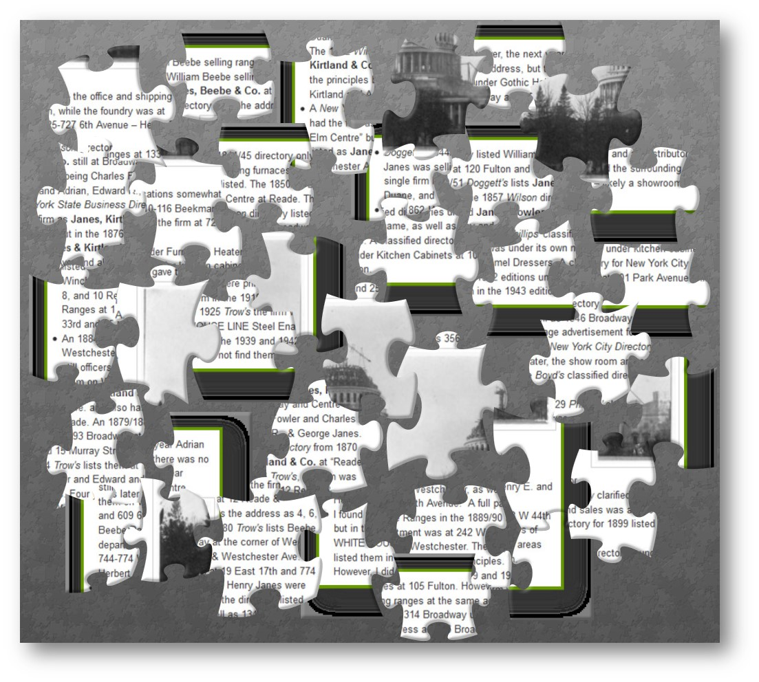Image of the puzzle pieces of doing historical company research