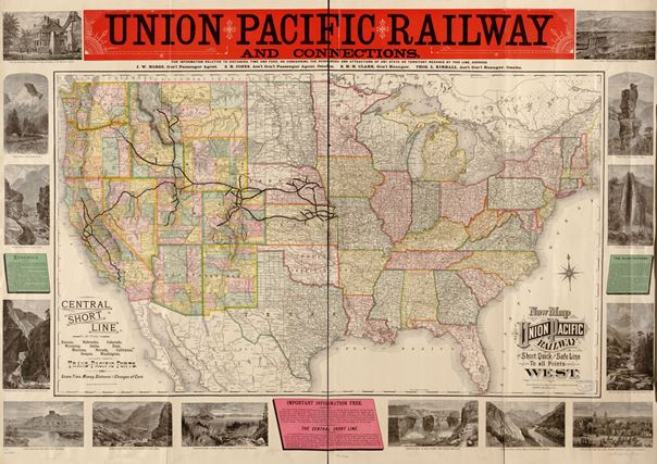 Bera Issue 19 Railroads Historical Research Sources At The Library - Us-transcontinental-railroad-map