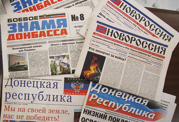 Image of newspapers from Eastern Ukraine