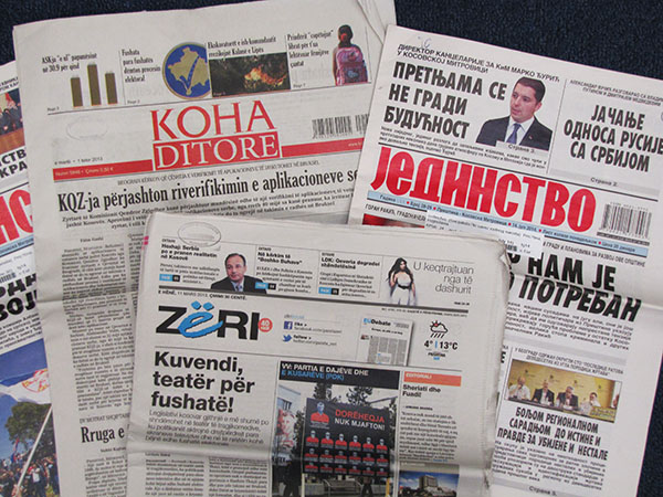 Image of Kosovo newspapers