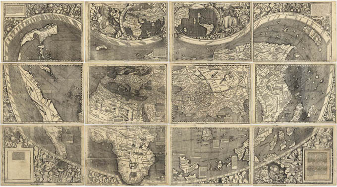 Waldseemuller Map, 1507 (Geography and Map Reading Room, Library