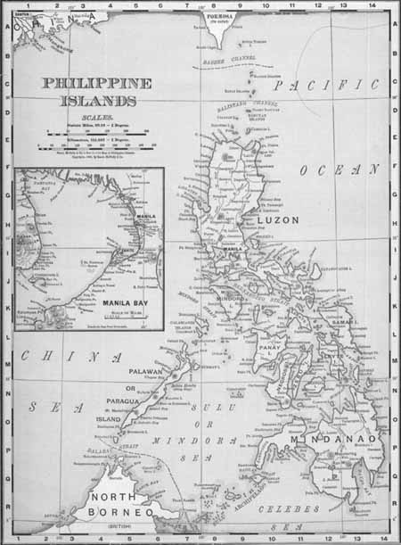 Spanish American War Philippines Map.The Philippines The World Of 1898 The Spanish American War