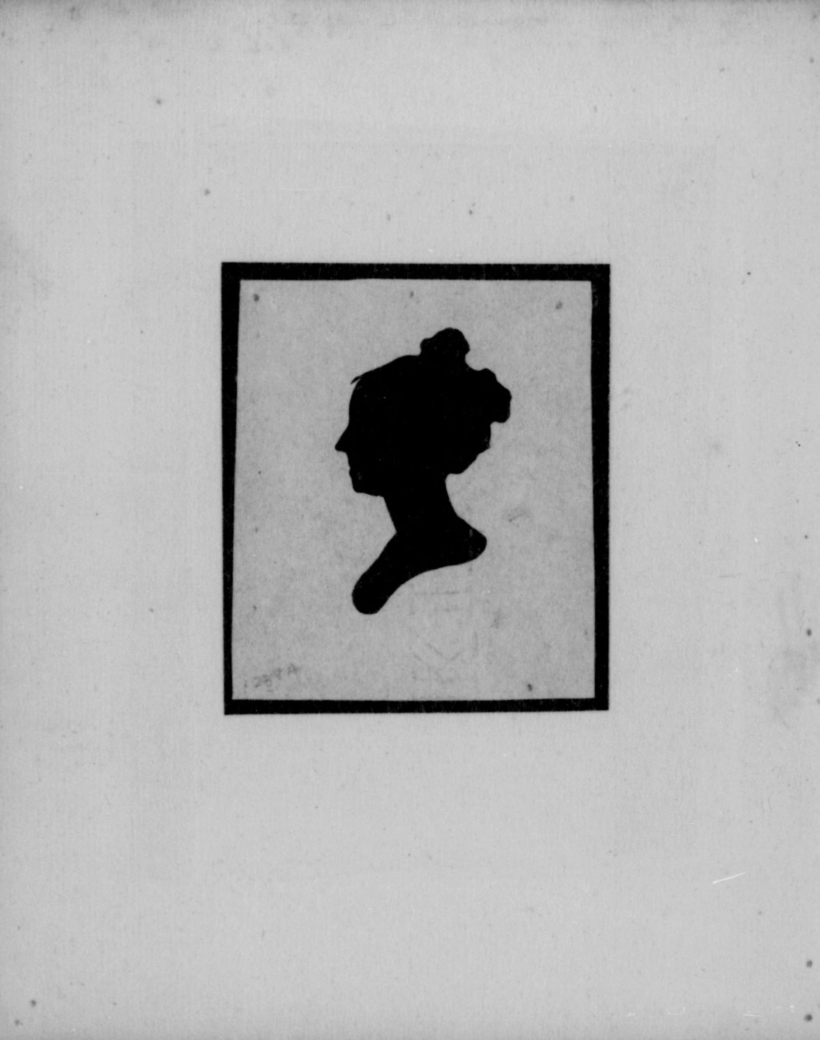 Female Silhouette. Image 142. Anna Maria Brodeau Thornton Papers.