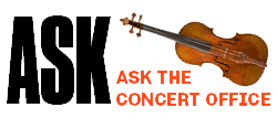 Ask the Concerts Office