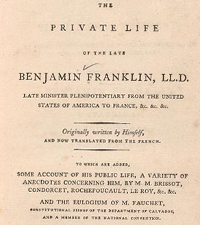 ben franklin essays benjamin franklin benjamin franklin essays  benjamin franklin s autobiography finding franklin a resource franklin autobiography title page