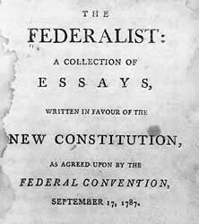 Federalist Papers Primary Documents Of American History Virtual