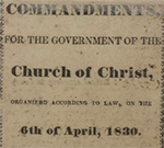Book of commandments for the government of the Church of Christ.