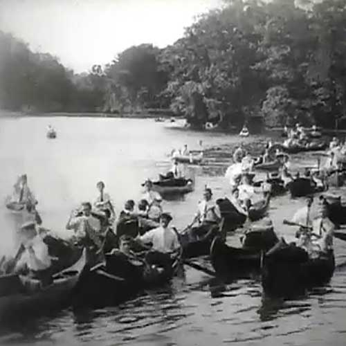 Canoeing on the Charles River, Boston, Mass, 1904