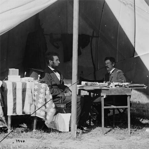 President Lincoln and Gen. George B. McClellan