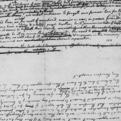 Original Rough Draught of the Declaration of Independence