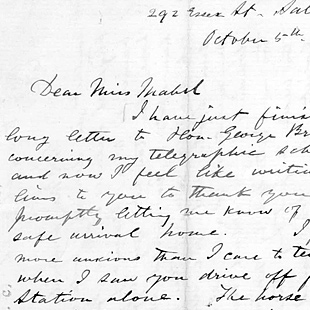 about this collection alexander graham bell family papers at the  featured content letter alexander graham bell