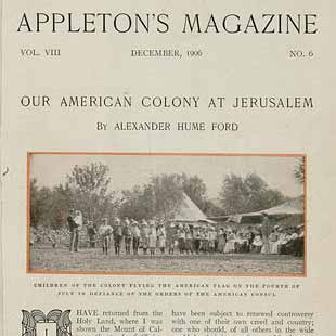 Article by Alexander Hume Ford in Appleton's Magazine, vol. 8, no. 6 (December 1906).