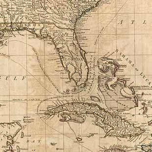 The West Indies, including part of Virginia, North Carolina, East Florida, South Carolina, West Florida, Georgia, Louisiana, and the Gulf of Mexico with part of the coast of South America: From the Bay of Honduras, to the mouth of the River Oronoko. From the latest and best authorities and actual observations.