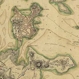 Boston its environs and harbour, with the rebels works raised against that town in 1775... Sir Thomas Hyde Page, [1775?].