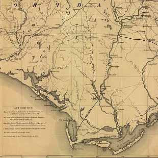 Extract From A Map Entitled Portions Of The Military Departments Of The Cumberland . . . Of The South . . . And Of The Gulf