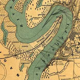 Vicksburg and its defences. Constructed and engraved to illustrate 'The war with the South'
