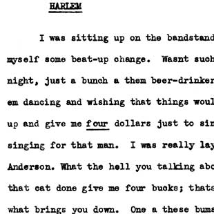 Ralph Ellison documents racism in a Harlem bar, June 14, 1939