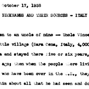 May Swenson learns about Italian nicknames from Vincent Viola D'Atri, October 17, 1938