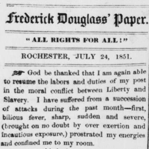About this Collection | Frederick Douglass Newspapers, 1847-1874 | Digital  Collections | Library of Congress