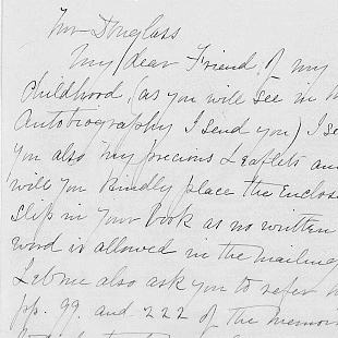 Frederick Douglass to William Lloyd Garrison reporting on his tour of Ireland, 29 September 1845. Holograph letter.