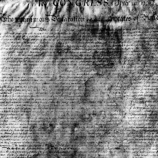 Photograph of the Declaration of Independence, May 16, 1942