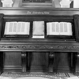 Photograph of the Gutenburg Bible, Library of Congress, November 1944
