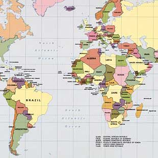 [Political map of the world, September 1987].