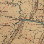 Part of map of portions of the milit'y dep'ts of Washington, Pennsylvania, Annapolis, and north eastern Virginia