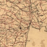 [Map of parts of Caroline, Hanover, and Henrico counties, Va. west of the Mattaponi River and the Richmond, Fredericksburg, and Potomac Railroad].