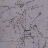 [Rough sketch of the Rich Mountain battle area extending from Beverly, W. Va. to Clarksburg].