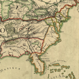 Franquelin's map of Louisiana.