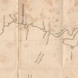 Map of the Washita river in Louisiana from the Hot Springs to the confluence of the Red River with the Mississippi