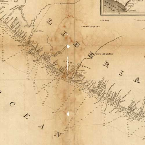 Maps of Liberia 1830 to 1870 Library of Congress